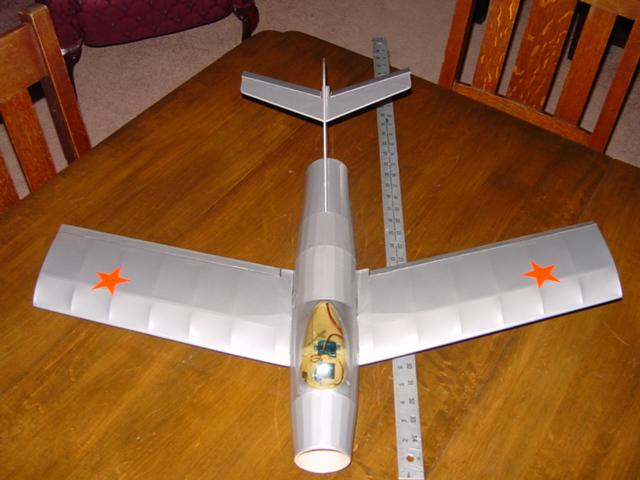 Top view of the fully covered Mig15